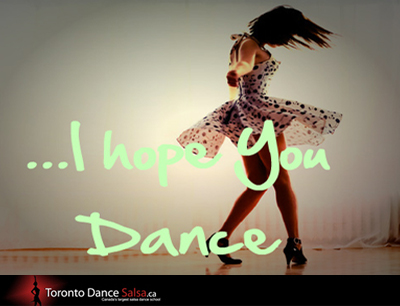 ... I hope you Dance