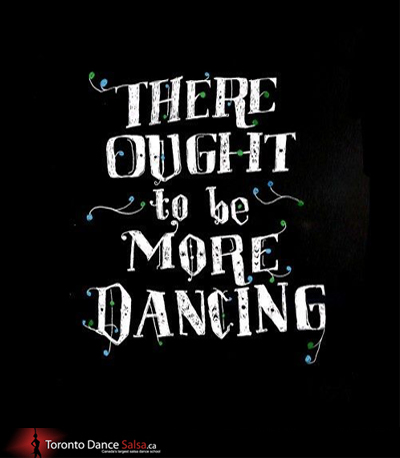 THERE OUGHT to be MORE DANCING.