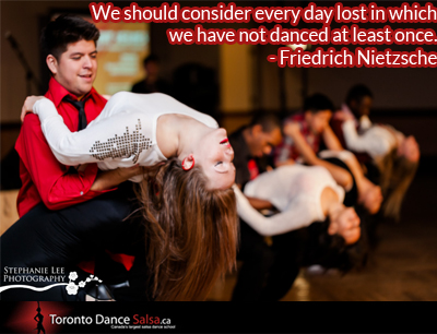 """""""We should consider every day lost in which we have not danced at least once."""" - Friedrich Nietzsche"""