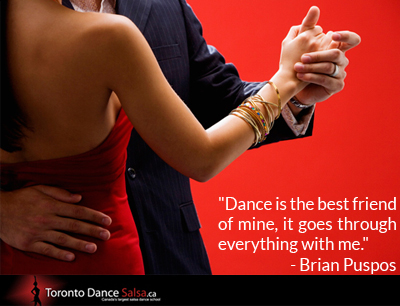 """""""Dance is the best friend of mine, it goes through everything with me."""" - Brian Puspos"""