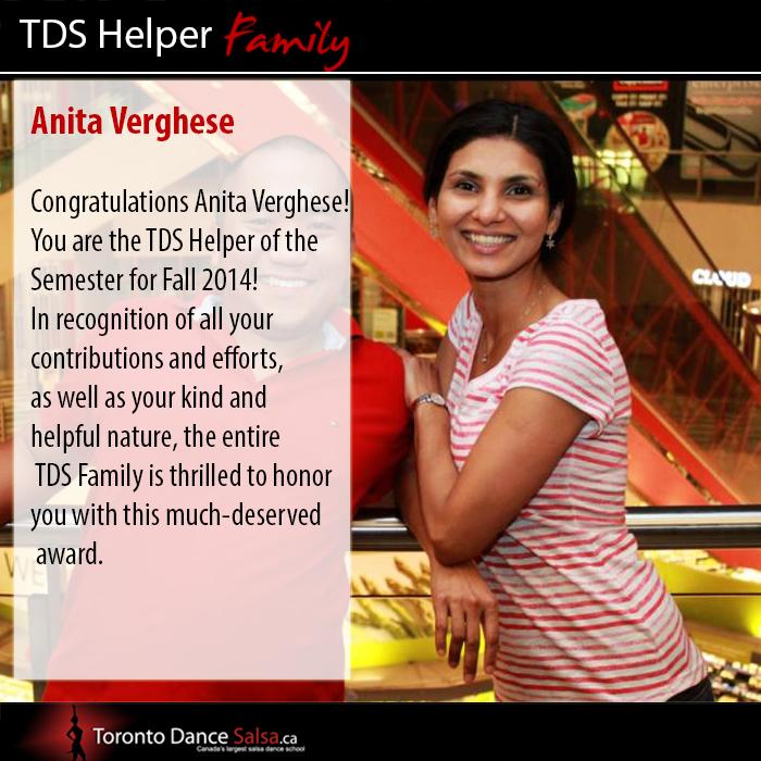 Anita Helper of Fall 2014 Semester