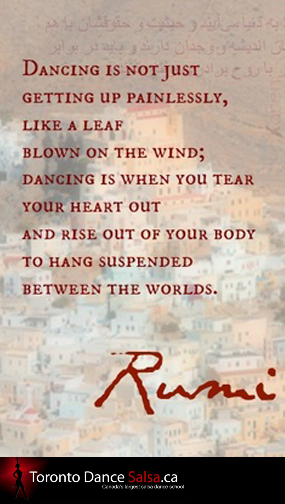 Dancing is not just getting up painlessly, like a leaf blown on the wind…